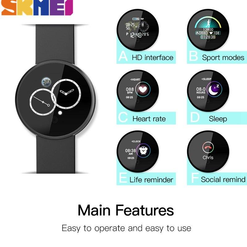 Reloj Digital deportivo SKMEI para hombre, Reloj de pulsera con Bluetooth, con ritmo cardíaco, resistente al agua, con seguimiento de calorías, GPS, Reloj de pulsera, Reloj B36M - 5