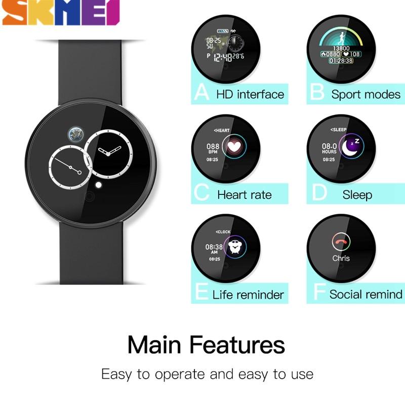 SKMEI Sport Digitale Mannen Horloge Bluetooth Hartslag Waterdichte Horloges Calorie Stap GPS Tracker Fitness Horloge Reloj B36M - 5
