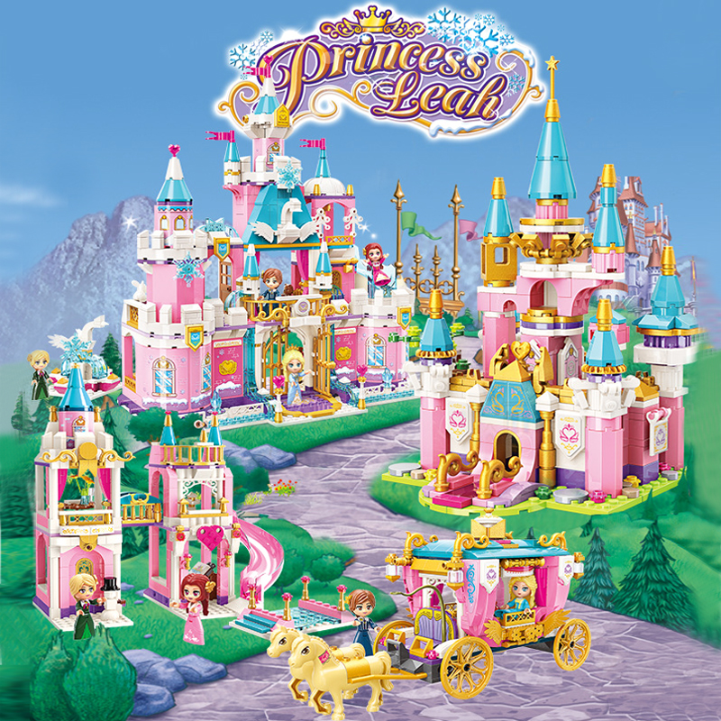 Enlighten Building Block Girls Friends Snowy Swan Castle Royal Parade Carriage Educational Bricks Toy Boy Gift-No Box