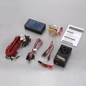Новый G.T. Мощное освещение и голосовая вибрационная система, радиоуправляемая Автомобильная запчасти, комплект для Tamiya RC4WD трактора, радиоу...