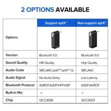 Ugreen Bluetooth Receiver 5.0 Wireless aptX LL 3.5mm Car Aux 3.5 Jack Stereo Adapter Music Headphone Bluetooth Audio Receiver
