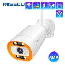 MISECU HD 5MP Wireless Macchina Fotografica del IP Esterna AI Umani Rilevare Wifi Della Macchina Fotografica Bidirezionale Audio H.265 P2P ONVIF IR Video telecamera di Sicurezza a casa