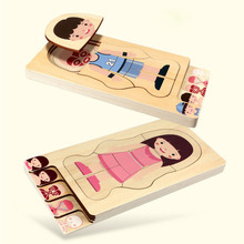New Early Educational Children Toys Wooden Human Body Puzzle Boys Girls Structure Puzzles Kids Gifts