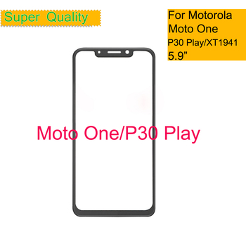 10Pcs/lot For Motorola Moto one XT1941-1 XT1941-3 Touch Screen Front Outer Glass Panel Lens For Moto One LCD Front image