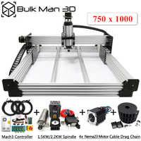 WorkBee CNC Full kit - A complete CNC Machine Setup 750mmx1000mm WorkBee CNC Machine Wood Metal Engraver Milling Machine Kit