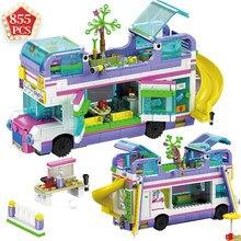2020 amigos especialistas para menina série ônibus 41395 41424 blocos de construção slide parque tijolos brinquedos meninas natal inverno presentes do feriado