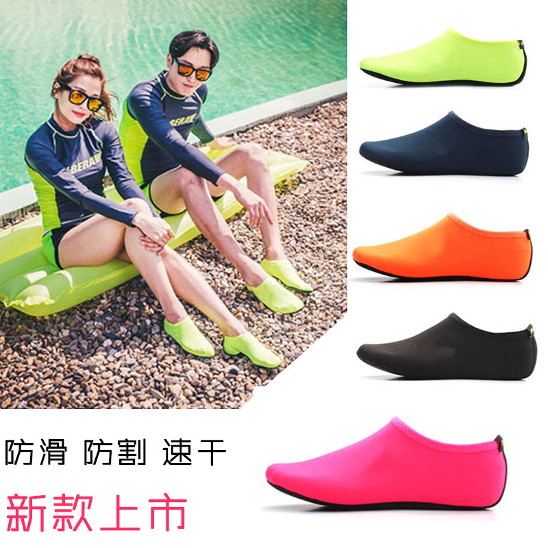 New Style sha tan wa Snorkeling Shoe Cover Swimming Diving Booties Snorkeling Socks Swimming Foot Sock Anti-slip Equipment