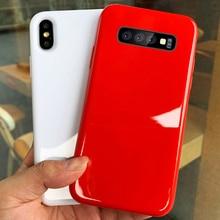 Однотонный карамельный чехол для телефона samsung Galaxy S10 S9 Plus S10E глянцевый чехол для samsung Note 9 8 10