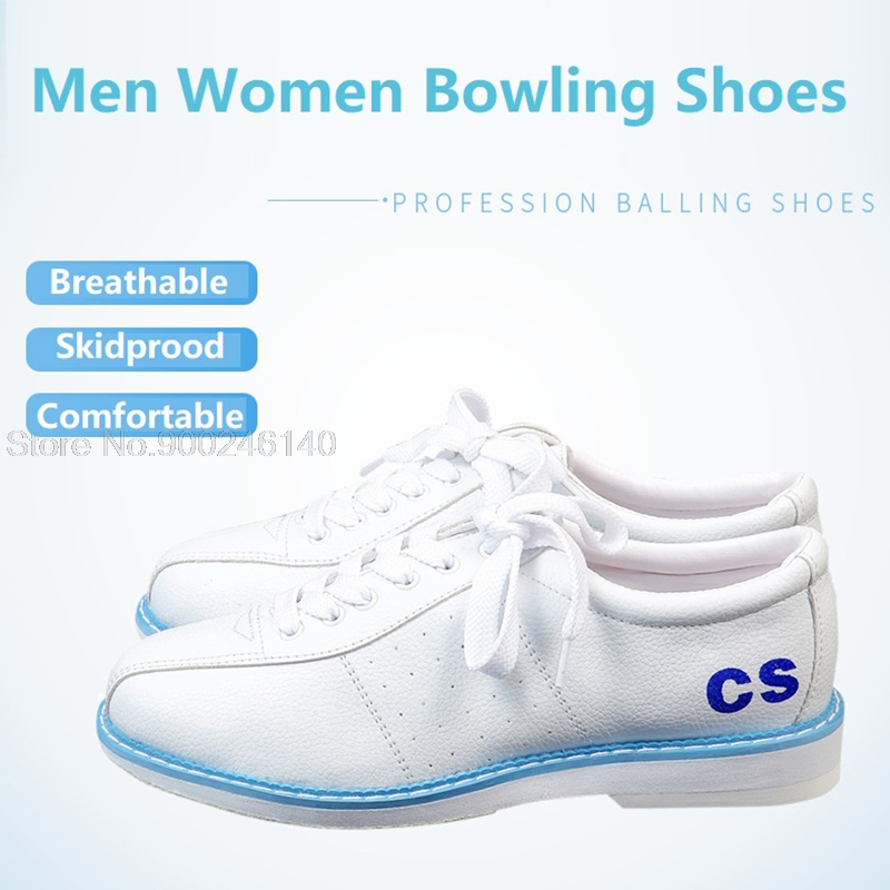 Bowling Shoes For Men Women Breathable Sports Shoes Bowling Supplies Skidproof Sole Training Sneaker Plus Size Eu34-47