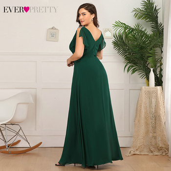 Plus Size Mother Of The Bride Dresses Ever Pretty EP07891 A-Line Ruffles Beaded O-Neck Farsali Wedding Guest Dresses Marraine 2