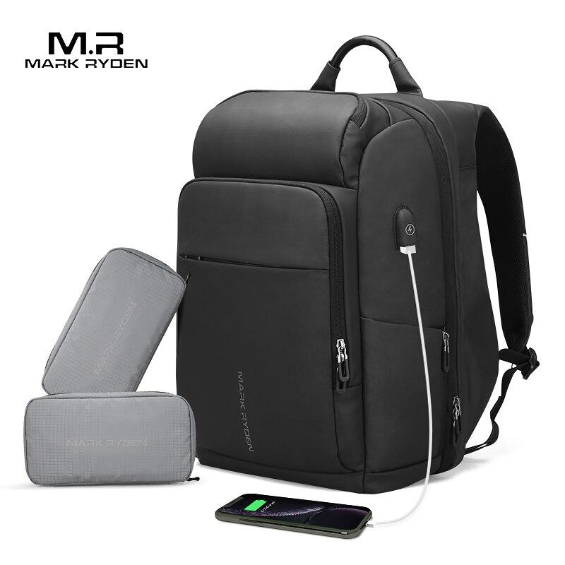 Mark Ryden Männer Rucksack Multifunktions USB Lade 17 Zoll Laptop Tasche Große Kapazität Wasserdichte Reisetaschen Für Männer
