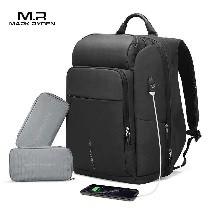 Mark Ryden Uomini Zaino Multifunzione USB di Ricarica 17 Pollici Del Computer Portatile di Grande Capienza del Sacchetto Impermeabile Borse Da Viaggio Per Gli Uomini