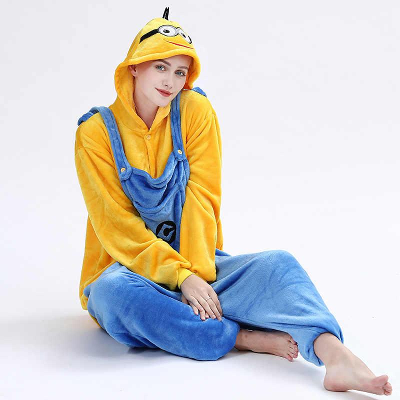 LISCN kurugumi פלנל למבוגרים בעלי החיים פיג 'מה לנשים יוניסקס חורף Homewear רך נוח הלבשת סלעית Onsie