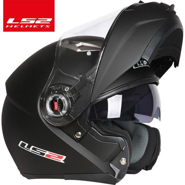 Casco capacete LS2 ff370 flip עד stomtrooper כביש אופני moto קסדת אופנוע עם שמש מגן עדשה