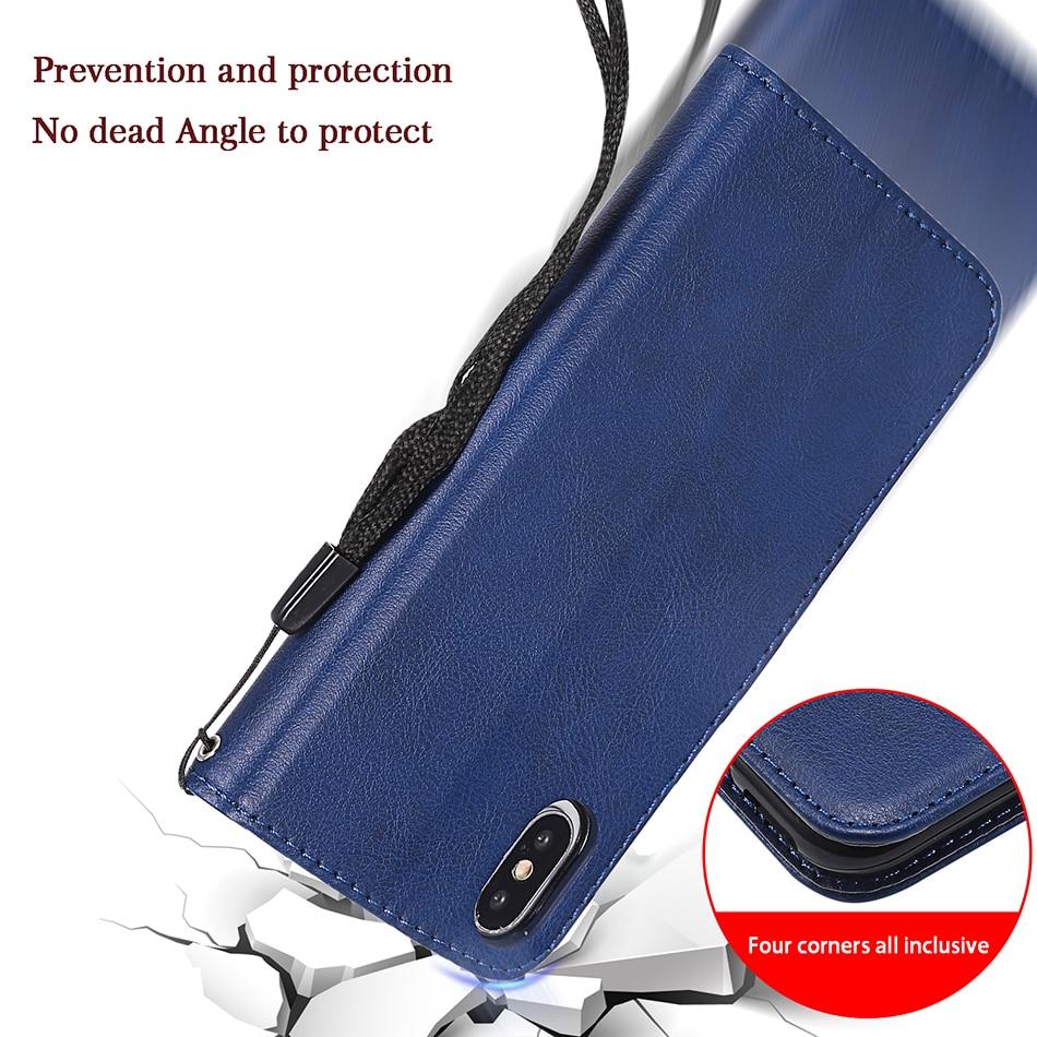 Solid Color Wallet Flip Case For iPhone XS Max Flip Solid Color Phone Cover For iPhone 11 Pro XS Max X XR 5 5S SE 6 6S 7 8 Plus