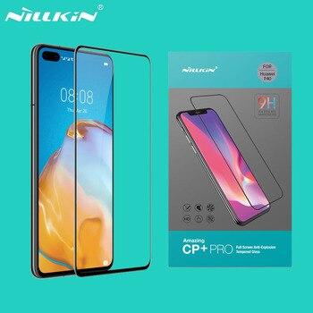 Para huawei p40 p40 lite 5g vidro temperado nillkin cp + pro anti-explosão 2.5d 9 h cobertura completa protetor de tela para huawei p40