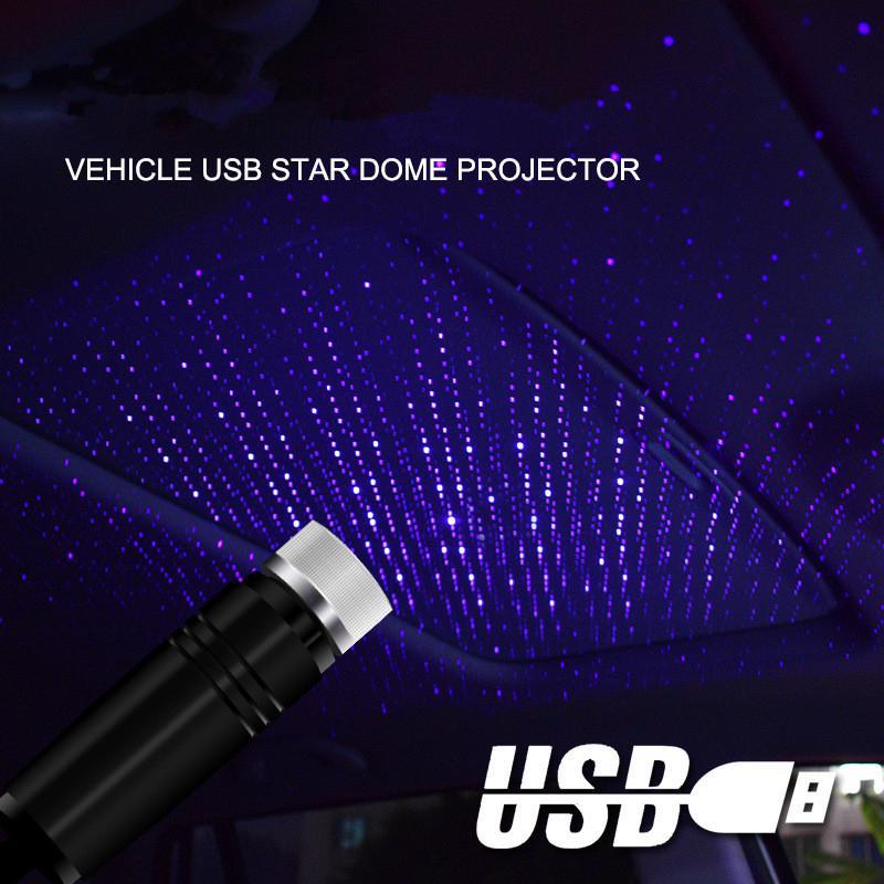 USB Star Light Roof Lights Night Light Romantic Atmosphere Festival Decoration New Year Gift Light Starlight 360 Degree Rotation