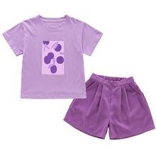 Летние комплекты одежды для девочек комплект хлопковой маленьких