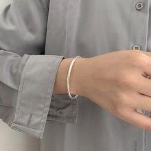 XIYANIKE 925 srebro błyszczący otwarty bransoletka kobiecy Trend minimalistyczny lekki luksusowy Temperament prezent dla par modne bransoletki