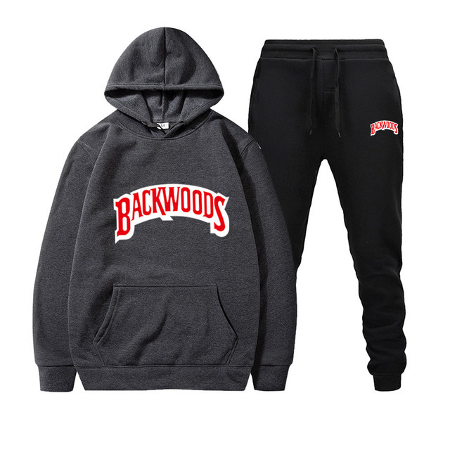 Streetwear BACKWOODS Hoodie set Tracksuit Men Thermal Sportswear Sets Hoodies and Pants Suit Casual Sweatshirt Sport Suit