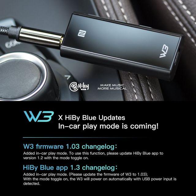 HiBy W3 USB DAC 3.5mm Portable Wireless Bluetooth Headphone Amplifier receiver AK4377 UAT APTX HD LDAC Noise Reduction 5