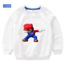 children sweatshirt toddler girl hoodie baby super mario DAB white for boy 2019 Autumu Fashion Cotton