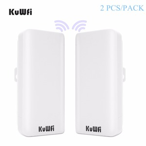 Image 1 - KuWFi 300 mb/s 2 szt. 1 3KM zewnętrzny Router CPE 5G bezprzewodowy punkt dostępu Router mostek Wi fi Wi fi Extender CPE Router z 24V POE