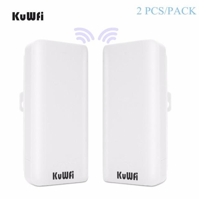 KuWFi 300 mb/s 2 szt. 1 3KM zewnętrzny Router CPE 5G bezprzewodowy punkt dostępu Router mostek Wi fi Wi fi Extender CPE Router z 24V POE