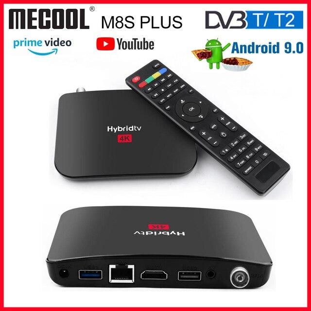 Mecool M8sプラスdvb T2 のandriod 9 tvボックス 2 グラム + 16 グラムのandriodボックスamlogic S905X2 dvb t/T2 スマートtvボックス 2.4 グラム無線lanセットトップボックスプレーヤー