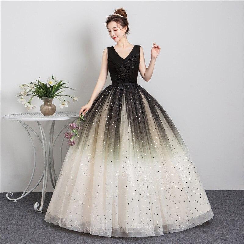 Quinceanera Dresses 2020 New Elegant Party Prom Formal V-neck Ball Gown Vintage Lace Vestidos Robe De Bal Vestidos De 15
