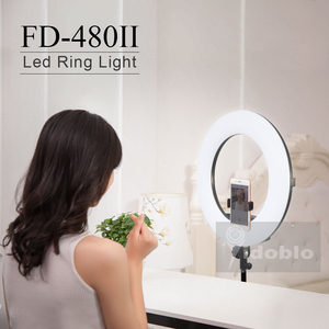 """Image 5 - Yidoblo 96W FD 480II 18"""" Studio Dimmable LED Ring lamp Sets 480 LEDs Video Light Lamp Photographic Lighting + stand (2M) + bag"""