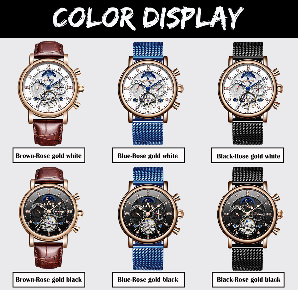 H582ab925ed4248eb910a5183bd683a01z LIGE Gift Mens Watches Brand Luxury Fashion Tourbillon Automatic Mechanical Watch Men Stainless Steel watch Relogio Masculino