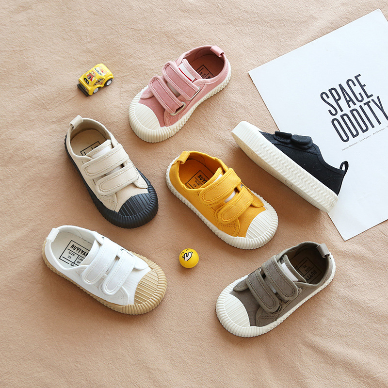 Autumn New Solid Color Children's Casual Shoes Canvas Shoes Boys And Girls Sports Shoes  Kid Shoes Children Girls