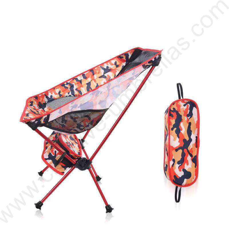 Bearing 150kg waterproof tensile 600D oxford outdoor aviation 75T alloy super light compact folding army camouflage moon chair