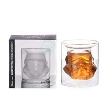 Звездные войны бокал для вина белый Солдат модель двухслойная креативная стеклянная кружка для воды персональная Пивная Кружка высокого бора стекло праздничный подарок