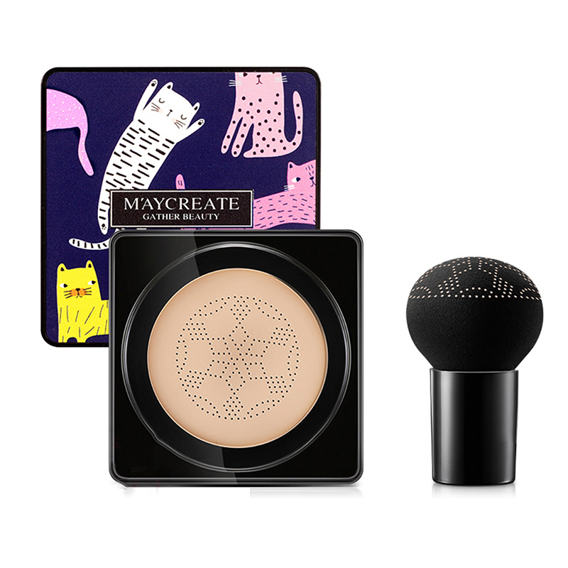 Mushroom Air Cushion Bb Cream Foundation Base Makeup Moisturizing Cover Blemishes Even Skin Tone Bb Cream Makeup Primer in BB CC Creams from Beauty Health