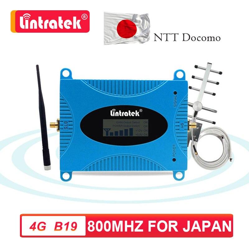 Lintratek B19 800 ретранслятор сотового телефона, усилитель сигнала, ретранслятор, набор антенн 10 м, Япония NTT Docomo, вызов 4g lte s8