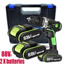 50 Н/м 36VF/ 88VF крутящий момент 2 батареи дрель электрическая отвертка электроинструменты электрическая дрель сверлильная батарея отвертка