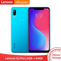 Global ROM Lenovo S5 Pro 6GB 64GB Snapdragon 636 Octa Core Smartphone 20MP Quad Cameras 6.2inch Octa Core 4G LTE Phones