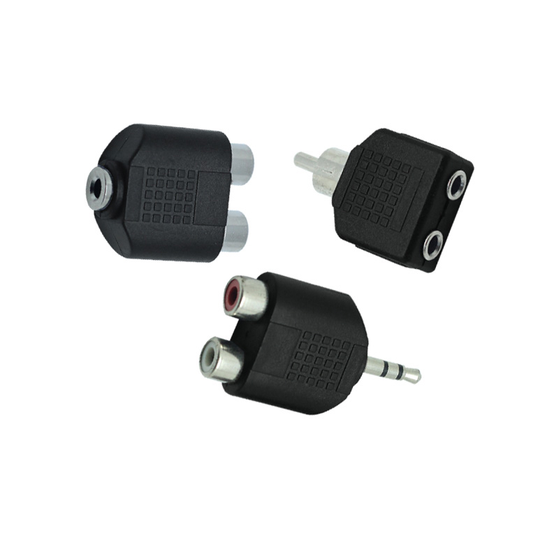 3.5mm Plug To 2 RCA Connector Male To Female 3.5 Mm Jack To RCA Y Splitter Converter Stereo AV Audio Adapter