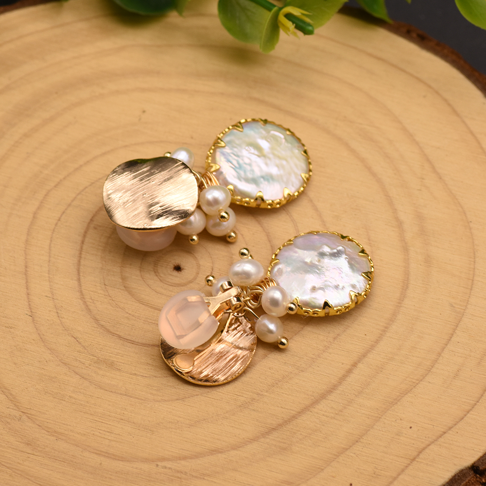 H582b50dc45944e2096e6c075c46f07c2P - GLSEEVO Natural Fresh Water Baroque Pearl Earrings For Women Plant Leaves Dangle Earrings Luxury Handmade Fine Jewelry GE0308