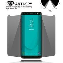 Privacy Tempered Glass For Samsung Galaxy J6 J8 A7 A9 A6 A8 Plus 2018 A8 Star A3 A5 A7 2017 Anti-Spy Screen Protector Film black silicone cover cute girlfriend bff for samsung galaxy a8s a9 a7 2018 a8 a6 plus a5 a3 star 2018 2017 phone case