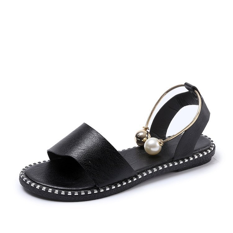 HOKSVZY 2019 Sandals Flip Flops New Summer Fashion Rome Slip On Breathable Non slip Shoes Woman HOKSVZY 2019 Sandals Flip Flops New Summer Fashion Rome Slip-On Breathable Non-slip Shoes Woman Slides Solid DFGD-A12