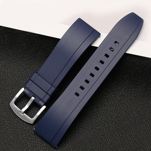 Image 3 - fluororubber watch strap Silicone Rubber bracelet quick release bar 20mm 22mm 24m watchband for huawei watches brands watch band