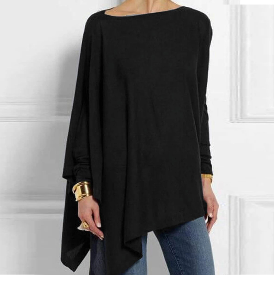 Cotton Irregular Womens Tops And Blouses Casual O Neck Long Sleeve Top Female Tunic 2019 Autumn Spring Plus Size Women's Blouse H582b7ca9d7e74cf8be5a5e6620456fc8J