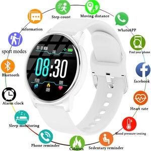 LIGE nowy inteligentny zegarek kobiety inteligentny zegarek dla mężczyzn dla Android IOS elektronika inteligentny zegar opaska monitorująca aktywność fizyczną silikonowy pasek inteligentny zegarek