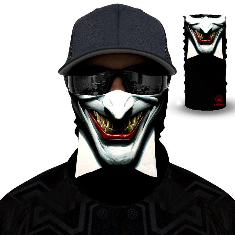 Clown Seamless Balaclava Magic Scarf Heaewear Outdoor Sports Bandanas Cycling Hiking Mask Neck Gaiter Movie Venom Anime