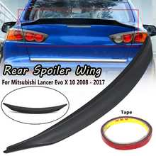 Qiilu Black Car Rear Roof Trunk Spoiler Wing Lip Fit for Mitsubishi Lancer Non EVO 2008-2015