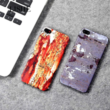 Personalized Newest Rust Spot Pattern Colorful Protective Film Sticker For iPhone 6 6S X 7 8 Plus Back Cover Glue Skin PVC Decal цена