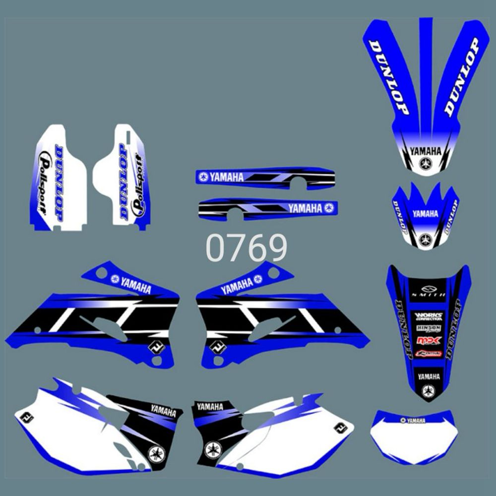 For YAMAHA WR250F 2007-2013 WR450F 2007-2011 Full Graphics Decals Stickers Custom Number Name Glossy Bright Stickers Waterproof